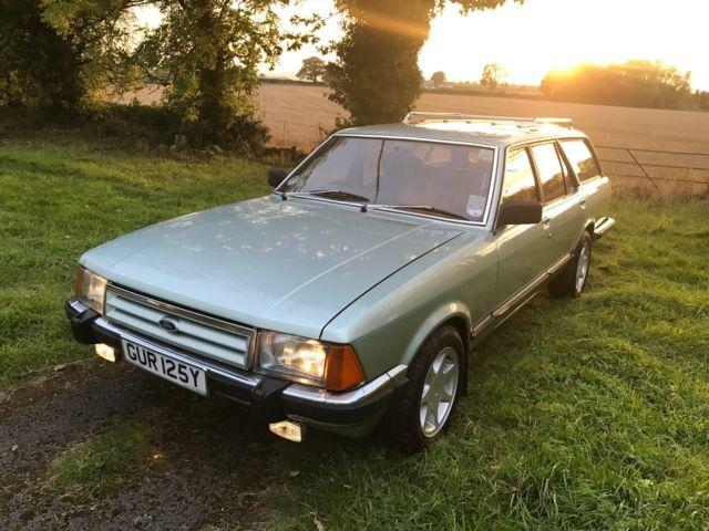 1982 Ford Granada 2 8 Ghia X Estate Crystal Green 11 Months Mot