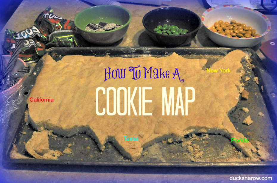 USA cookie map maps sugarcookies homeschooling How