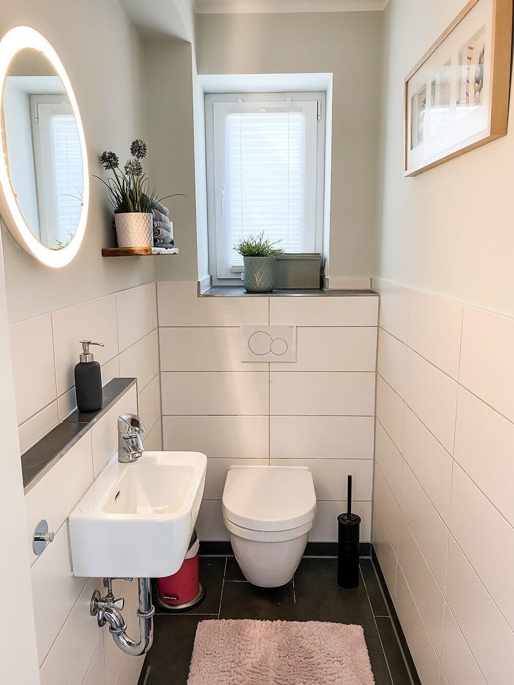 Badezimmer und Gäste WC streichen   Dieses Mal durften die Profis ...