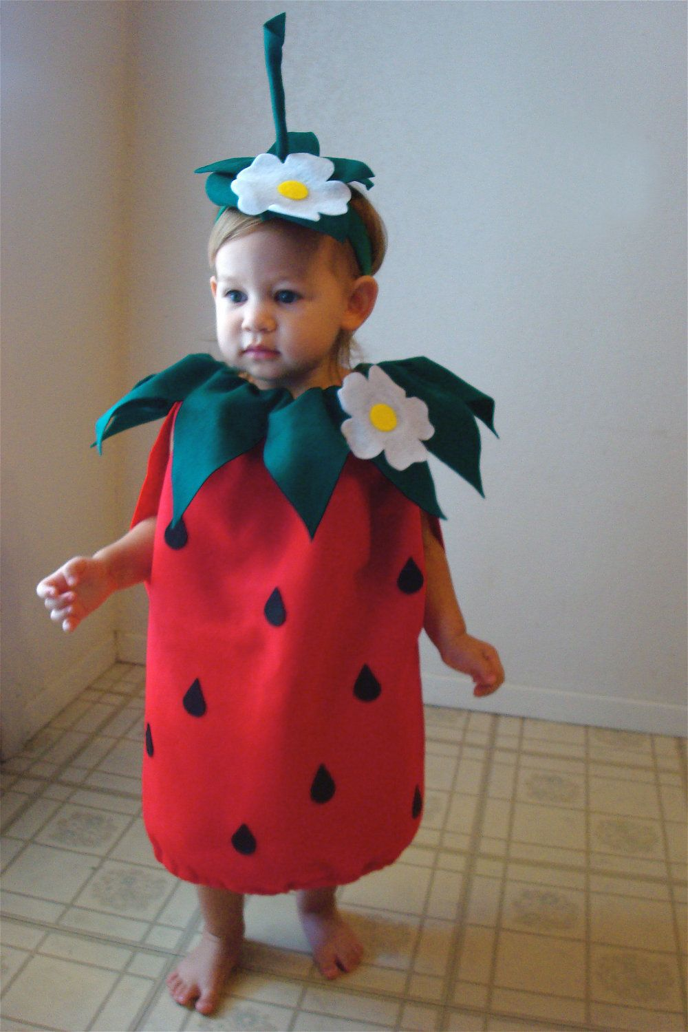 Baby Strawberry Costume Infant Toddler Halloween Fancy Dress