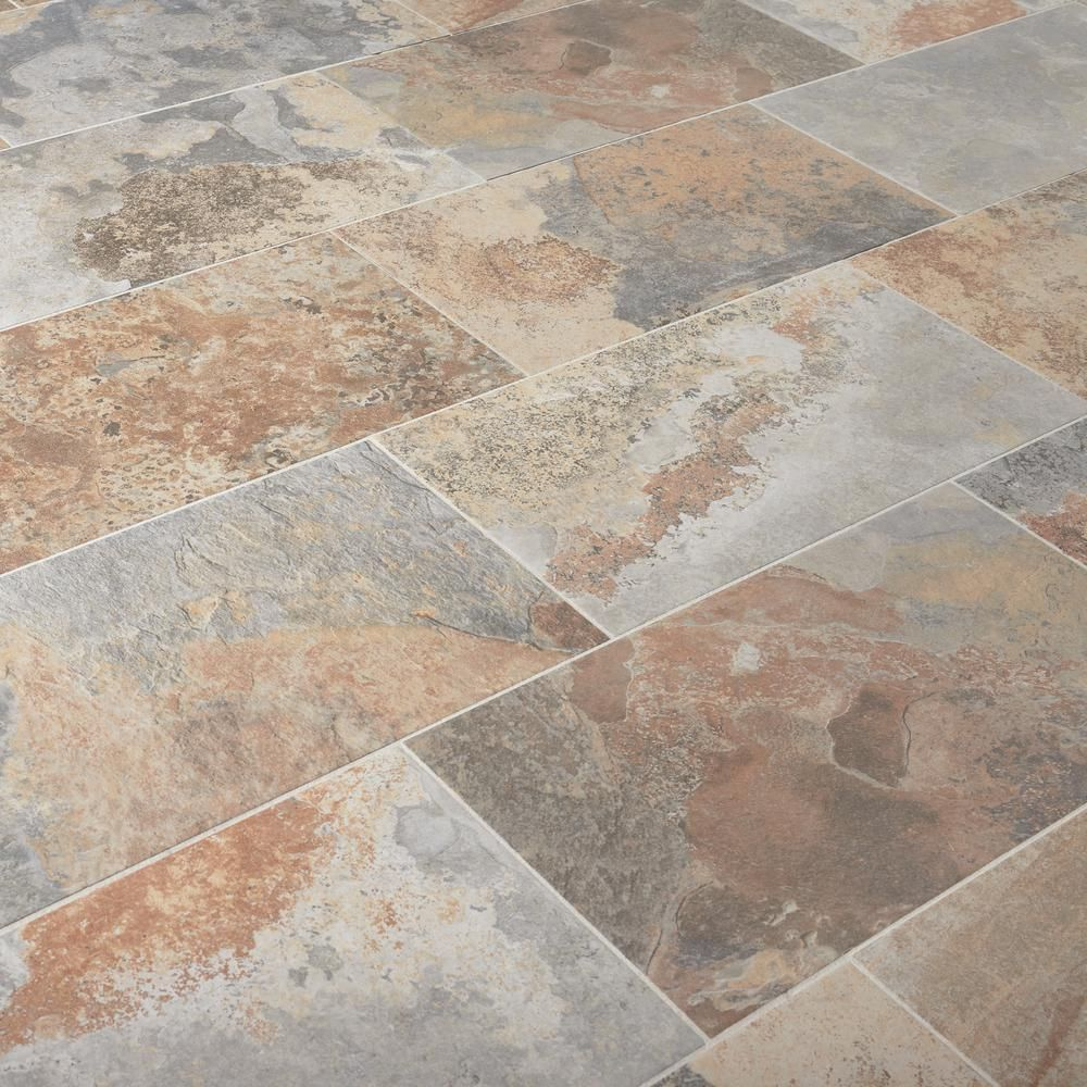 Marazzi Vitaelegante Ardesia 12 In X 24 In Porcelain Floor And Wall Tile 15 6 Sq Ft Case Ulrv1224hd1pr The Home Depot In 2020 Porcelain Flooring Rustic Tile Floor Flooring