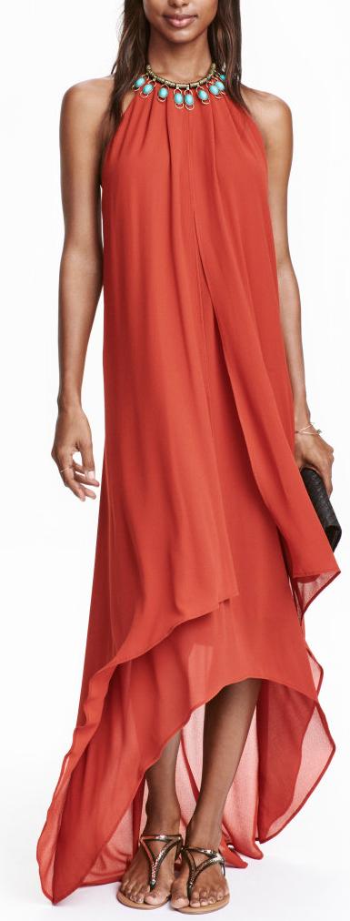 halter maxi dress