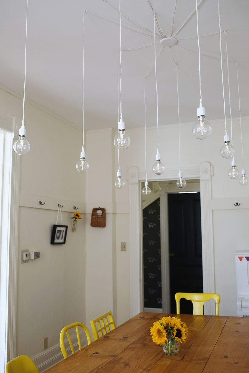 Home küche einfache design bilder elsieus dream diy light fixture a beautiful mess  lichterfest