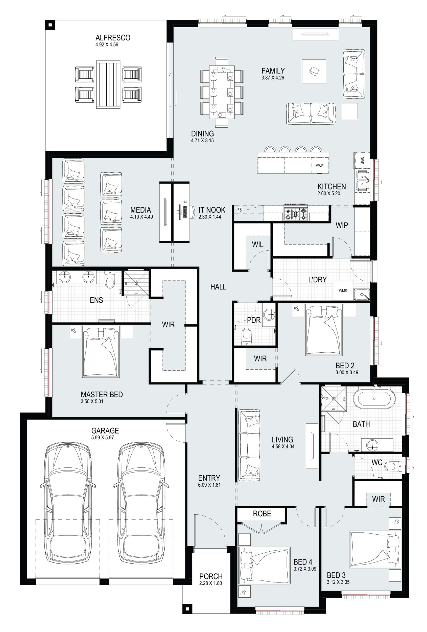 Jade 31 Single Level Floorplan By Kurmond Homes New Home Builders Sydney Nsw In 2020 Home Design Floor Plans Model House Plan New House Plans
