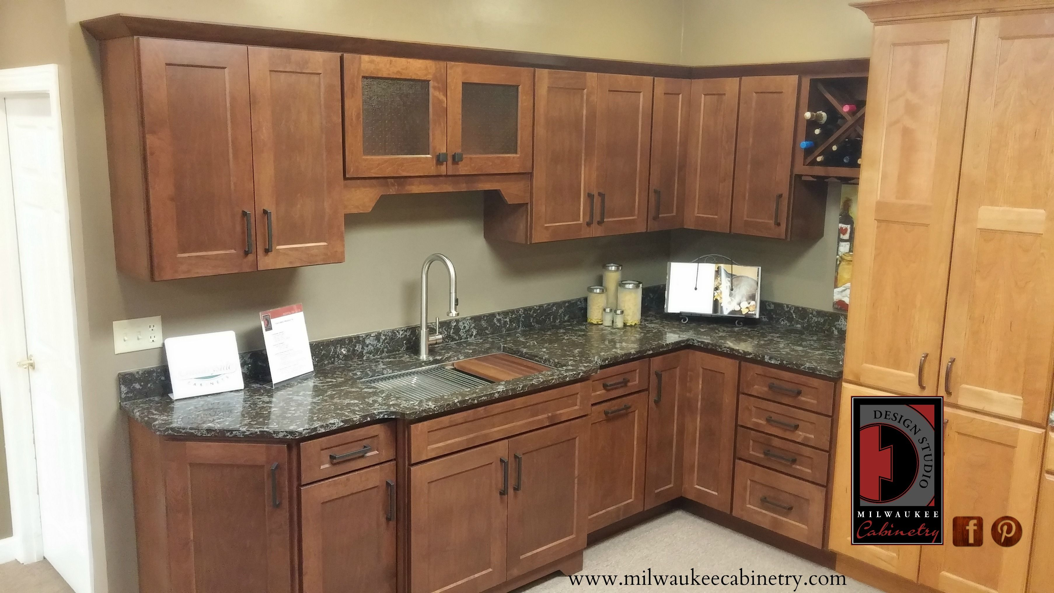 London Granite Countertops Countryside Cabinetry London Maple Auburn Glass