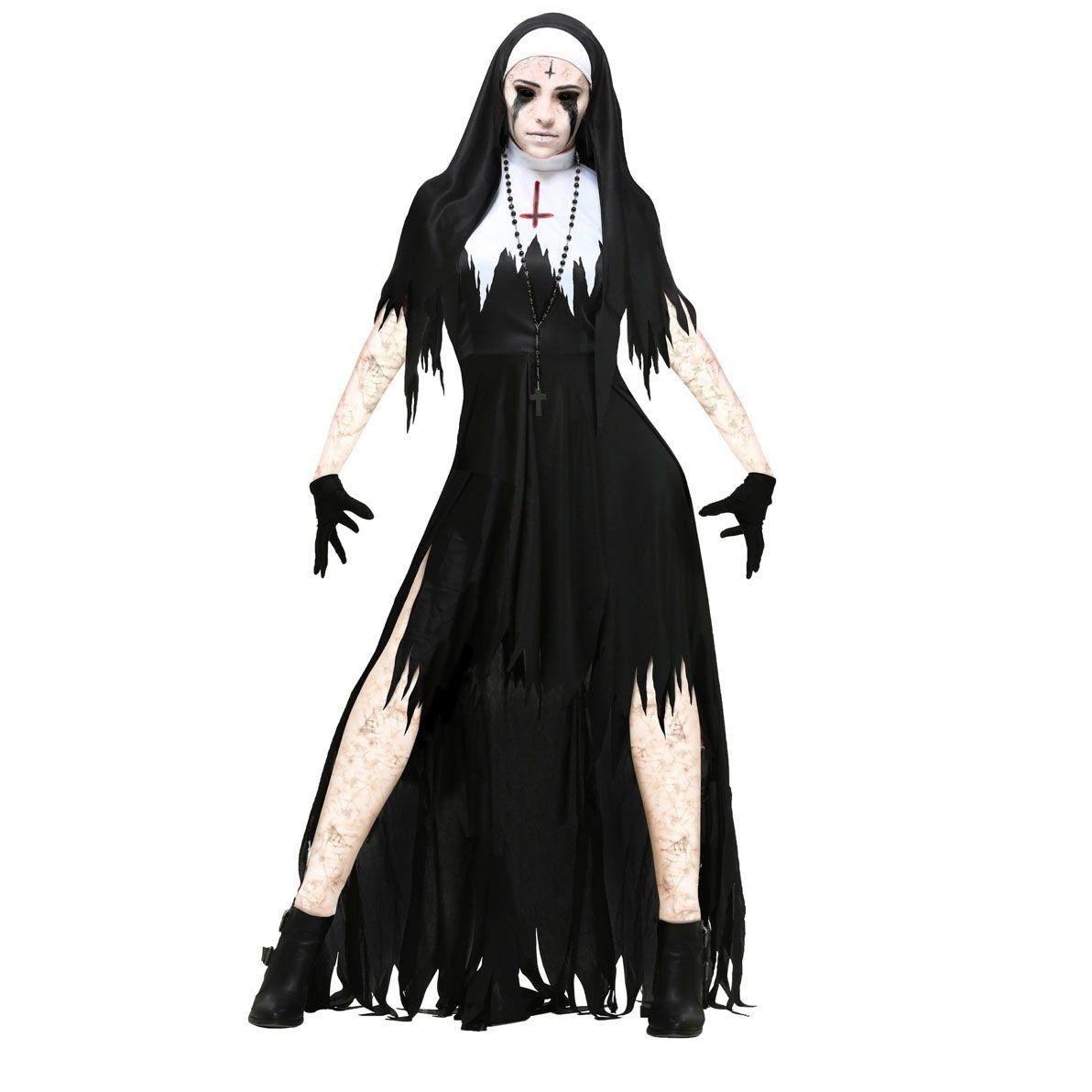 Halloween Nun Cosplay Black Vampire Costume For Women Halloween