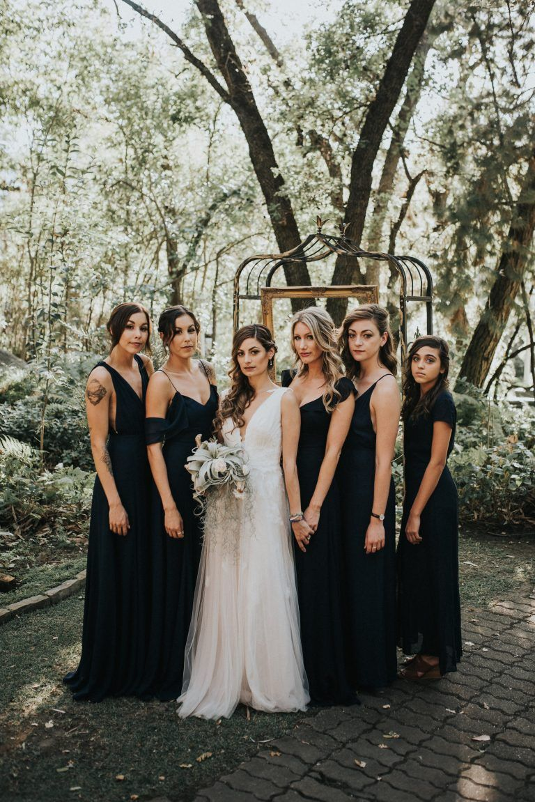 3 bold bridesmaids looks for your fashion forward wedding 3 bold bridesmaids looks for your fashion forward wedding black bridesmaid dresseswedding ombrellifo Image collections