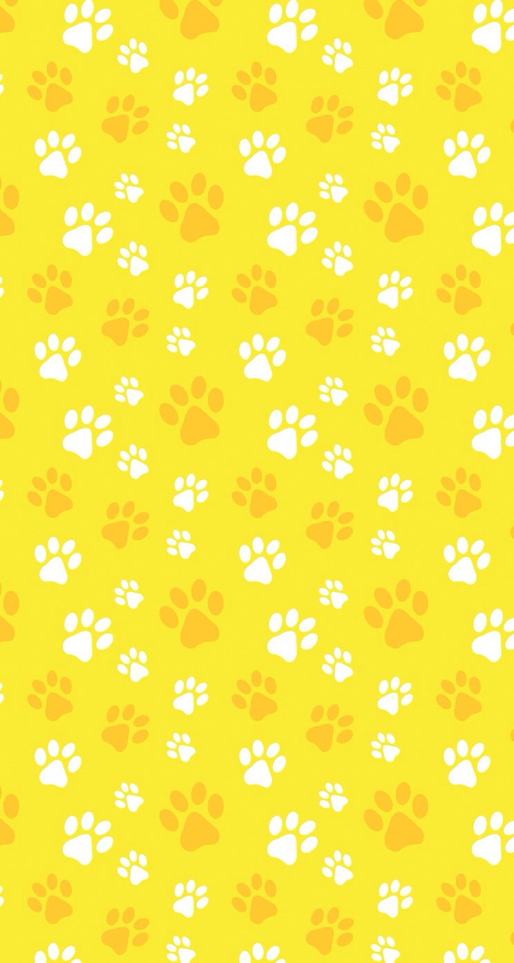 Yellow And Gold Animal Paw Print Pattern If I Need A Specific Colour Try