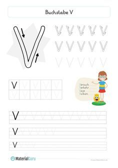 kostenlose arbeitsblätter und Übungen zum buchstaben v für den deutsch-unterricht