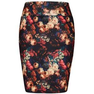 City Chic Printed Pencil Skirt