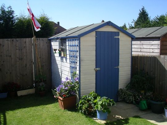 Garden Ideas Painted The Shed