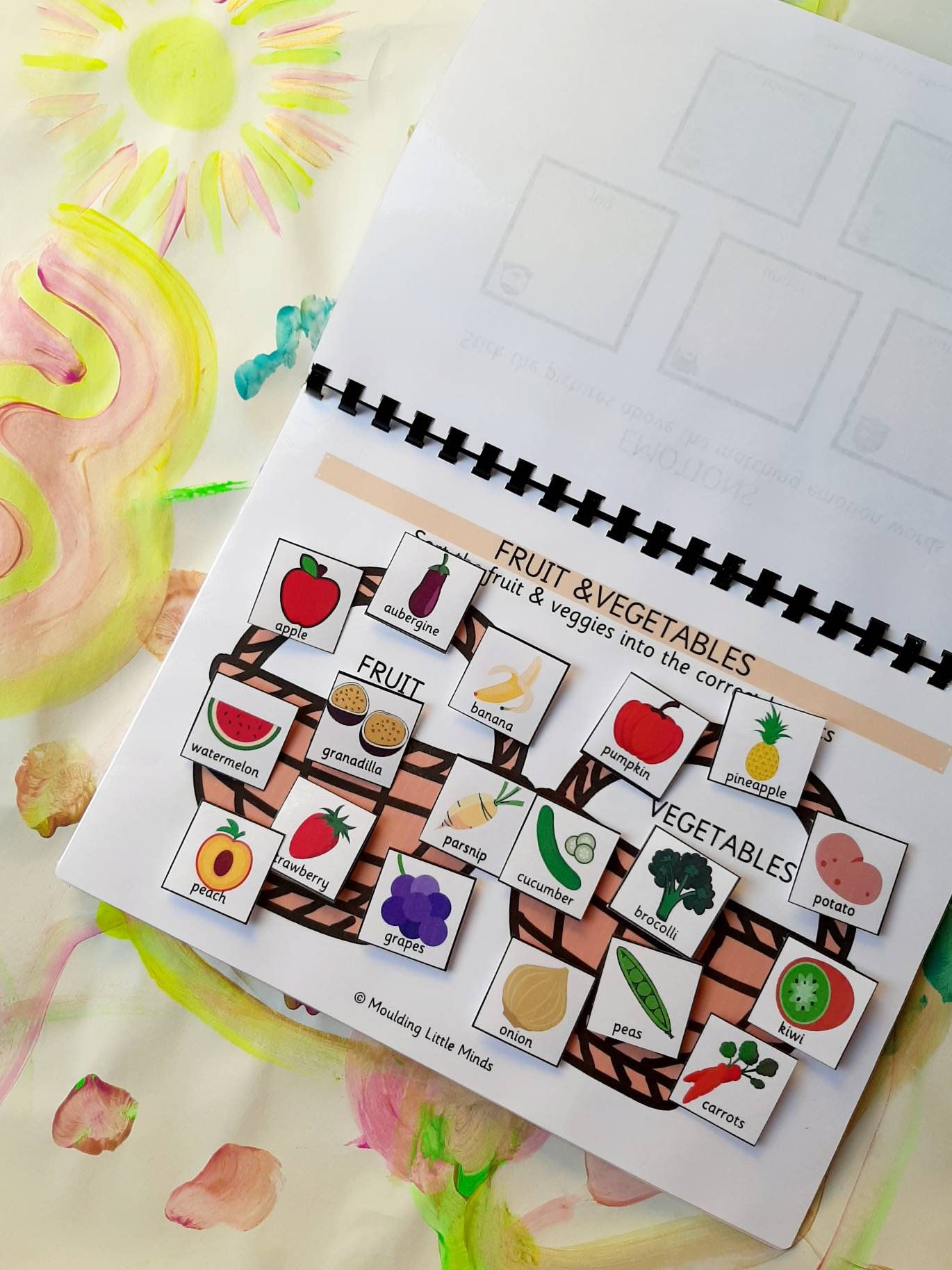 Food Matching Gamebusy Binder Pagesnursery Folderearly