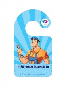 TabTale door hangers with your most beloved TabTale characters! Print and cut them and that's it! Simple, fun and free!
