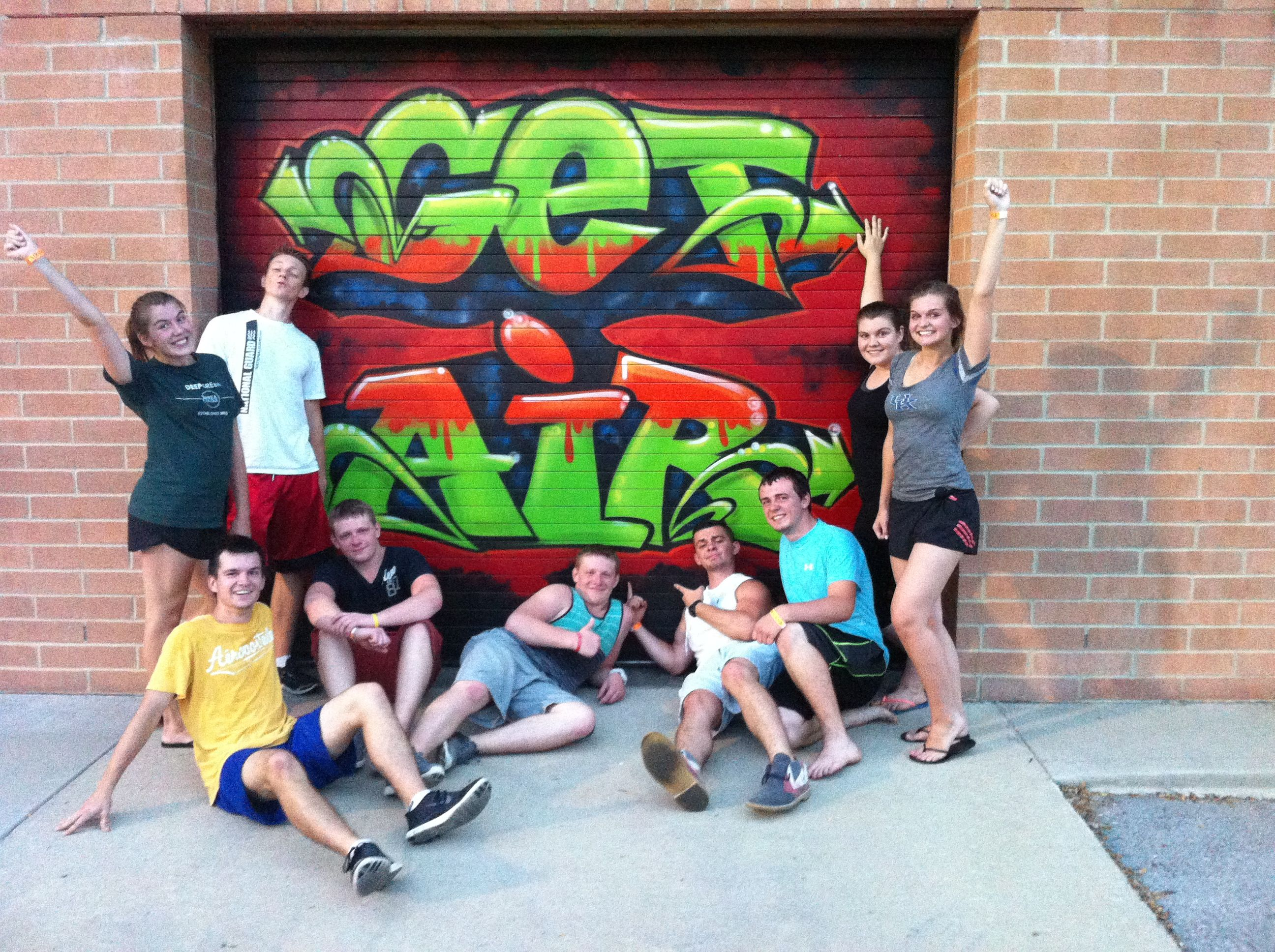 Russian exchange students partying at GET AIR LEX (With