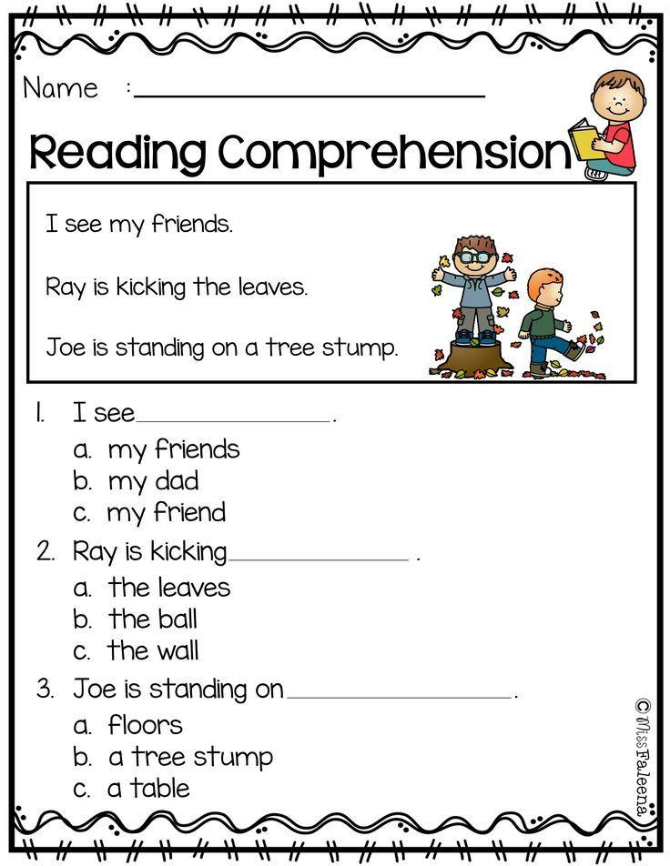 Free Reading Comprehension | Kindergarten Freebies | Pinterest