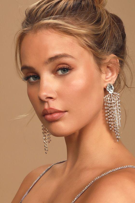 Gilda Gold Rhinestone Statement Earrings