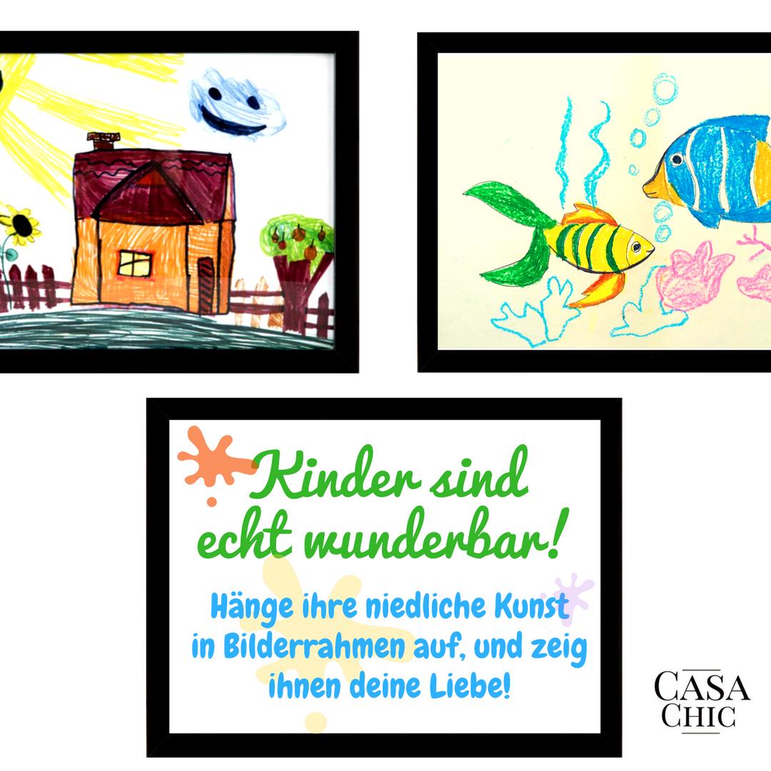 Kinder malen gerne, und Kinderkunst ist eine fantastiche Idee zum ...
