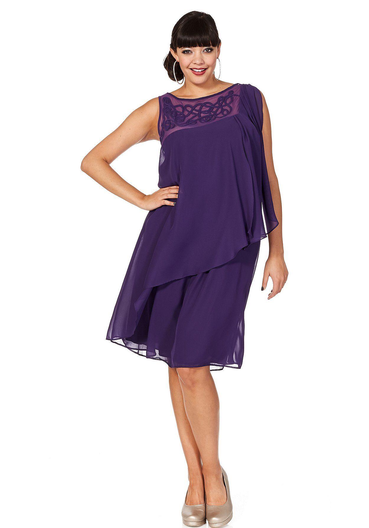 sheego Style Cocktailkleid - lila | Damenmode online kaufen | Plus ...