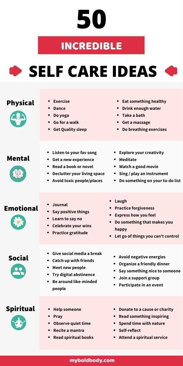 50 Simple And Effective Self-Care Ideas For Busy People