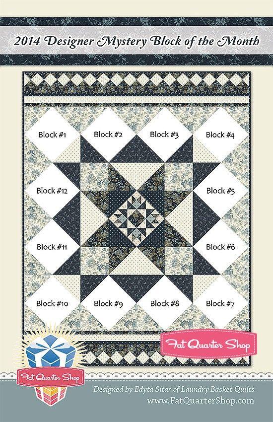2014 Designer Mystery Block Of The Month Finishing Kit Quilt Patternfat Quarter Shop Block Of The Month Program 201 Quilts Quilt Block Patterns Quilt Patterns