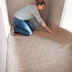 comment poser du jonc de mer sur un sol en b ton en 2019. Black Bedroom Furniture Sets. Home Design Ideas