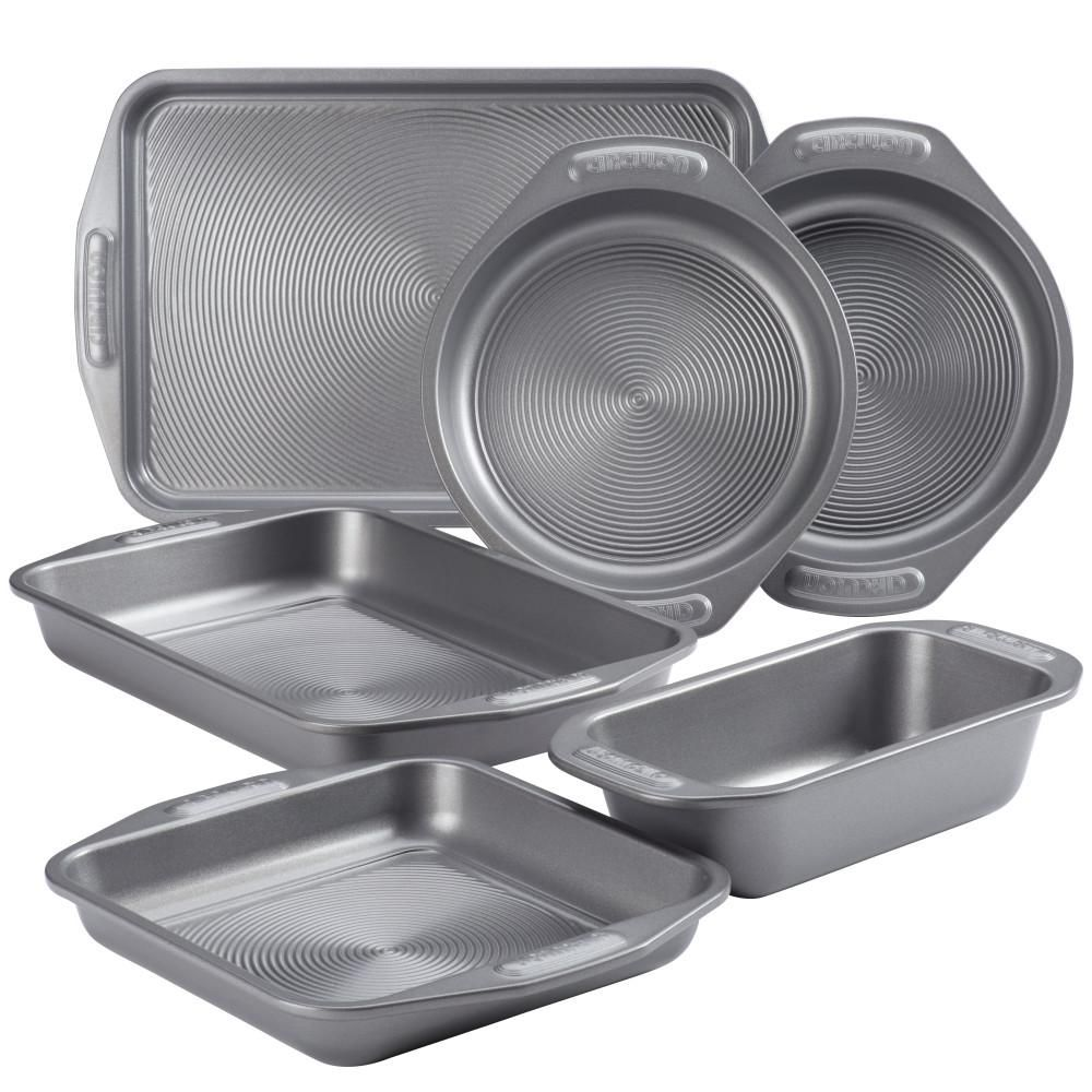 Circulon 6 Piece Non Stick Bakeware Set Gray Bakeware