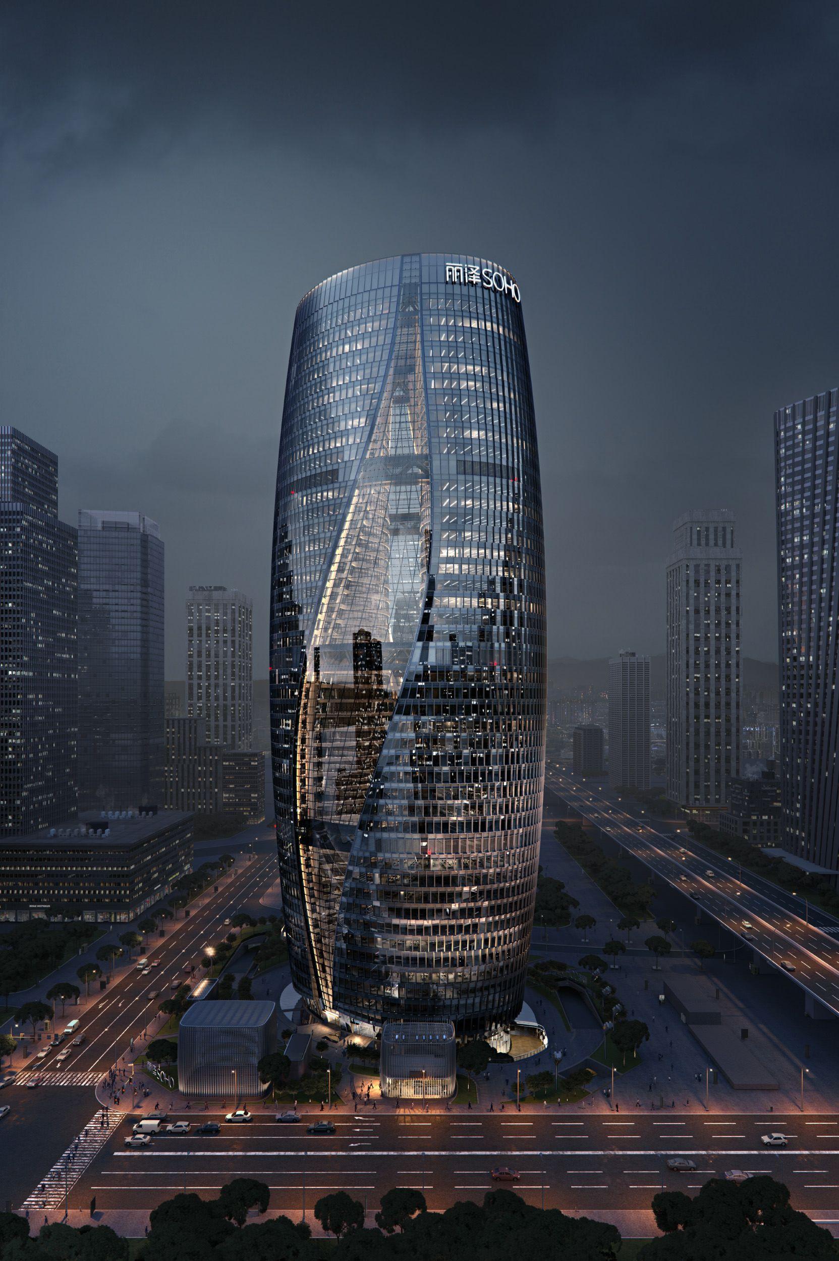 Making of ZHA s Leeza SOHO 3D Architectural Visualization & Rendering Blog