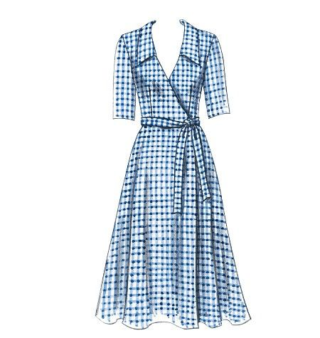 Misses Dress, Belt and Sash Butterick Pattern 5030