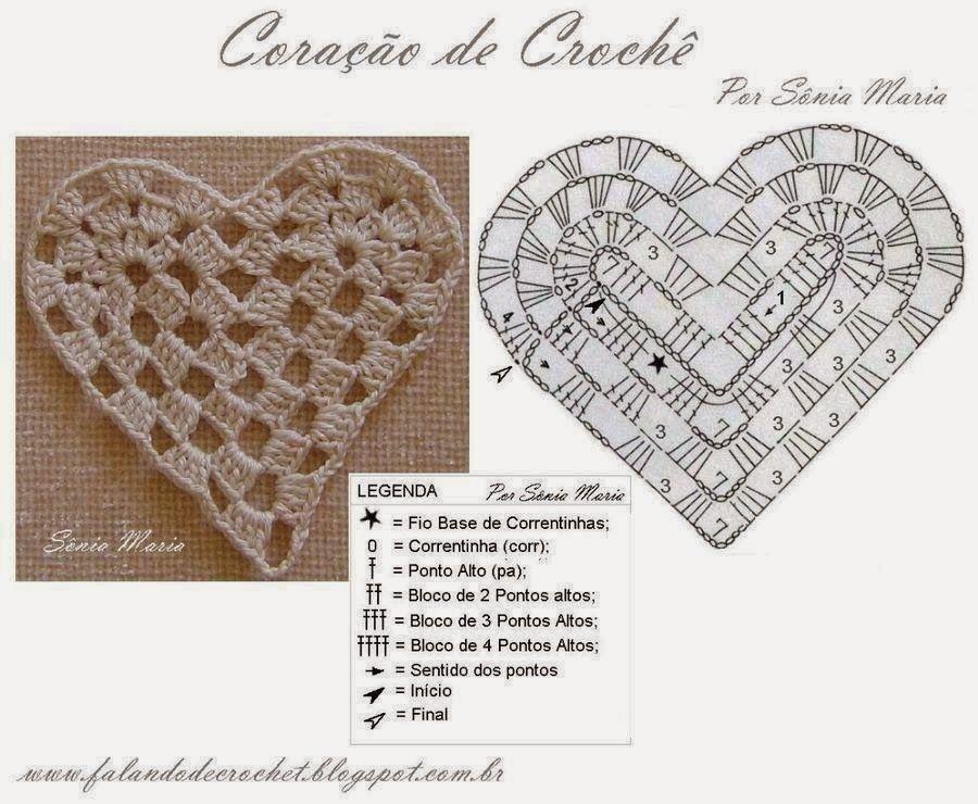 Su Crochet: variedad de corazones a crochet | Ganchillo Aplicacion ...