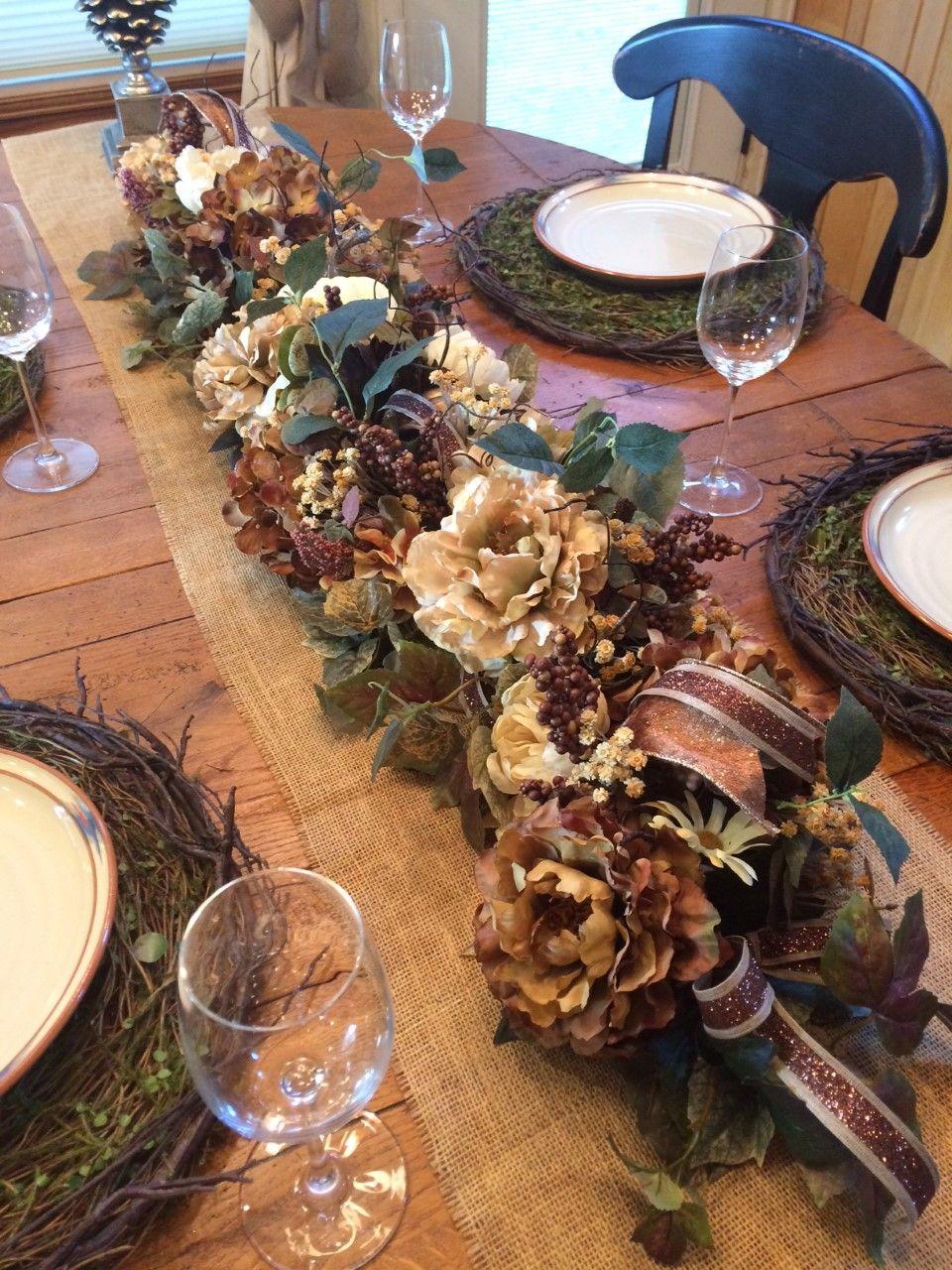 Lush Fall Garland 52 Coffee And Cream Garland Thanksgiving Garland Fall Centerpiece Rustic Garland Woodland Decoracion De Unas Faldas Colegiales Navideno
