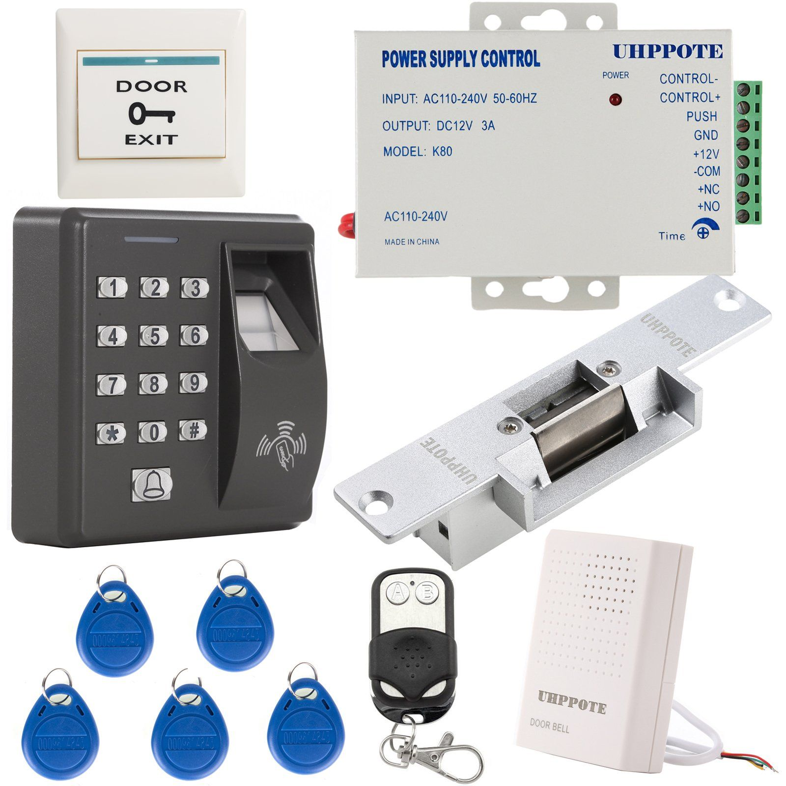 c6ee0e2939b6fdb6d73b5246b98f620f uhppote fingerprint rfid em id card access control system kit with