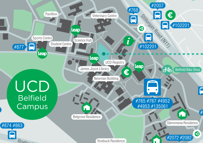 map of ucd campus Connecting Your Campus Z Card Maps For Ucd And Dit map of ucd campus
