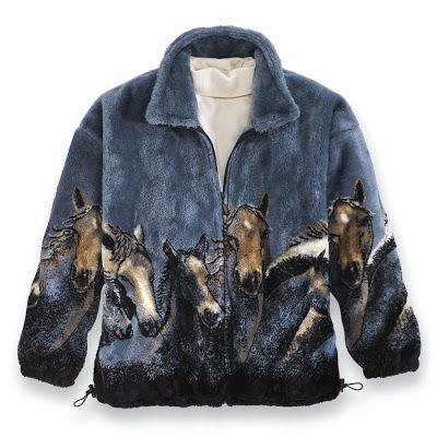 Gorgeous Horse Fleece Jackets | Horse Gifts | Pinterest | Jackets ...