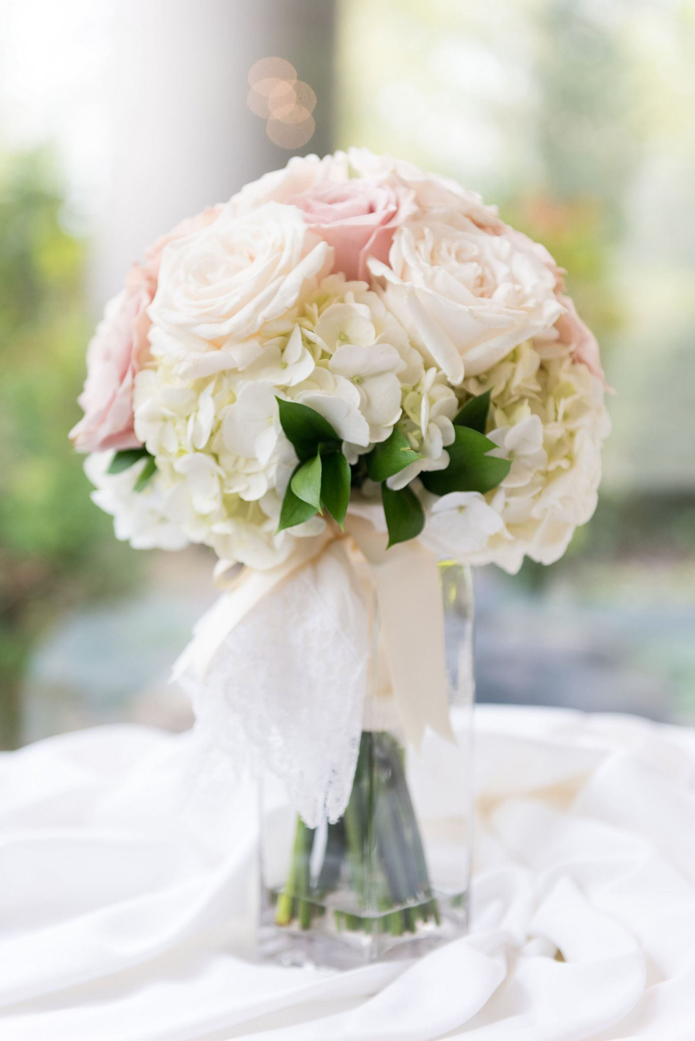 White And Pink For Brodal Bouquet For This Pastel Themed Wedding