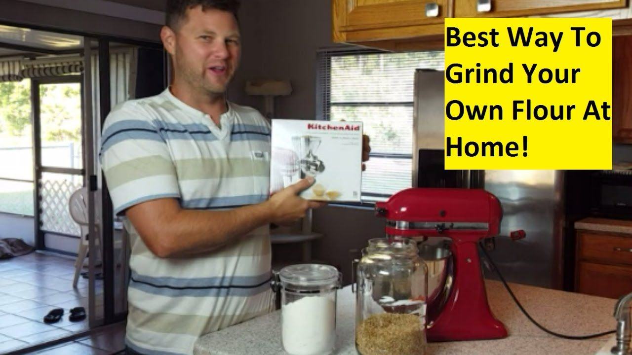 Grain mill kitchenaid how to make wheat flour with a
