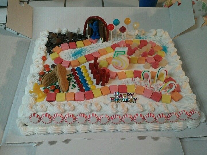 Candyland costco birthday cake party foods pinterest