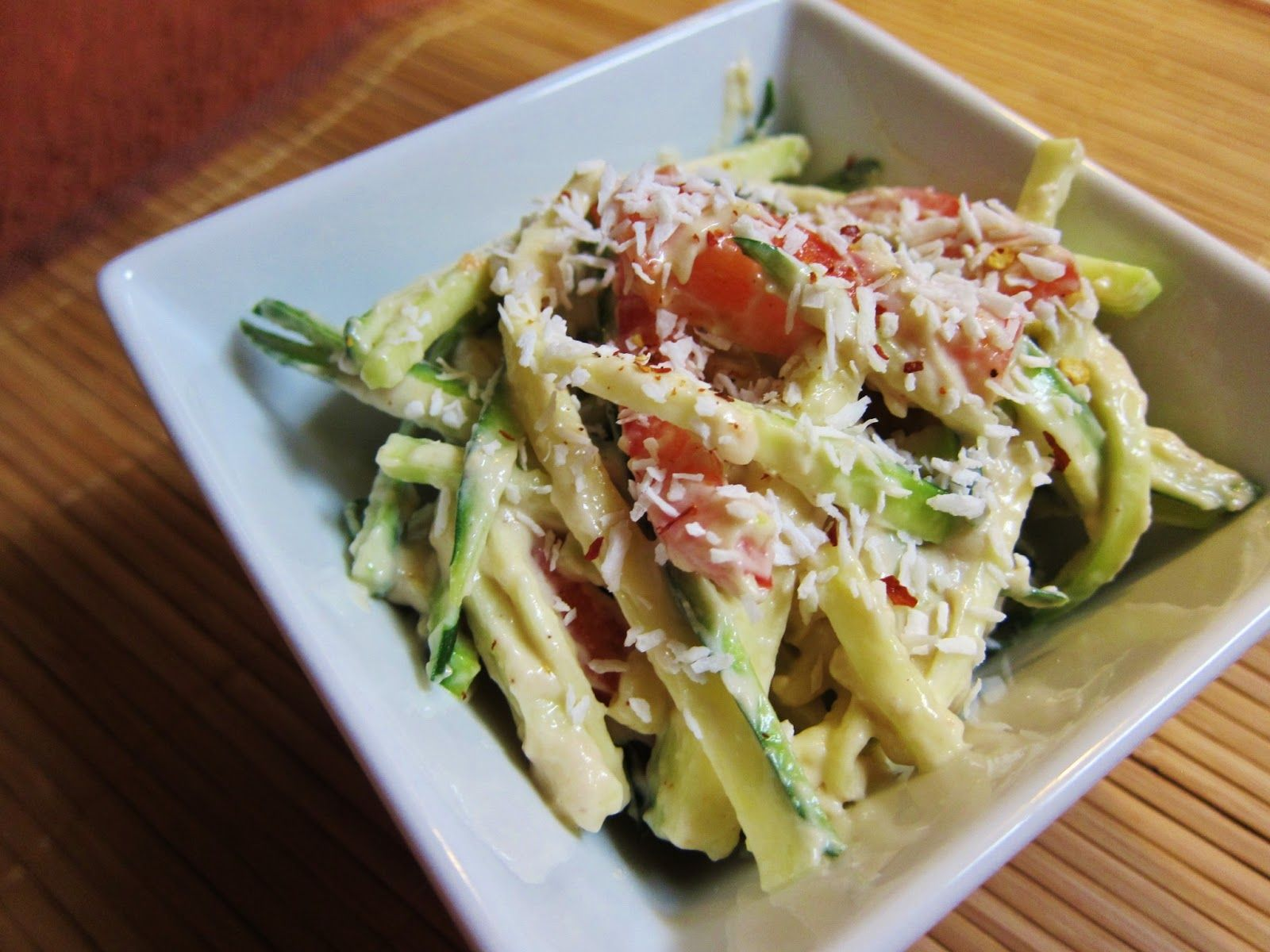 Smart health talk top pick raw thai chili coconut zucchini noodles smart health talk top pick raw thai chili coconut zucchini noodles if you going to try and eat more raw foods you want flavor to replace the meat forumfinder Image collections