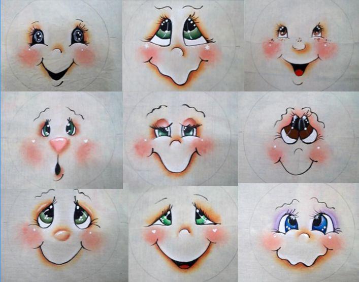 Pintura em Tecido Passo a Passo: Como pintar olhos em Bonecas de Pano