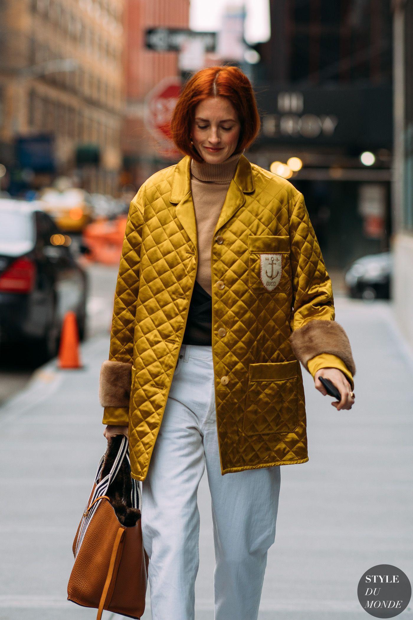 tendencia inverno street style nyfw casaco amarelo yellow