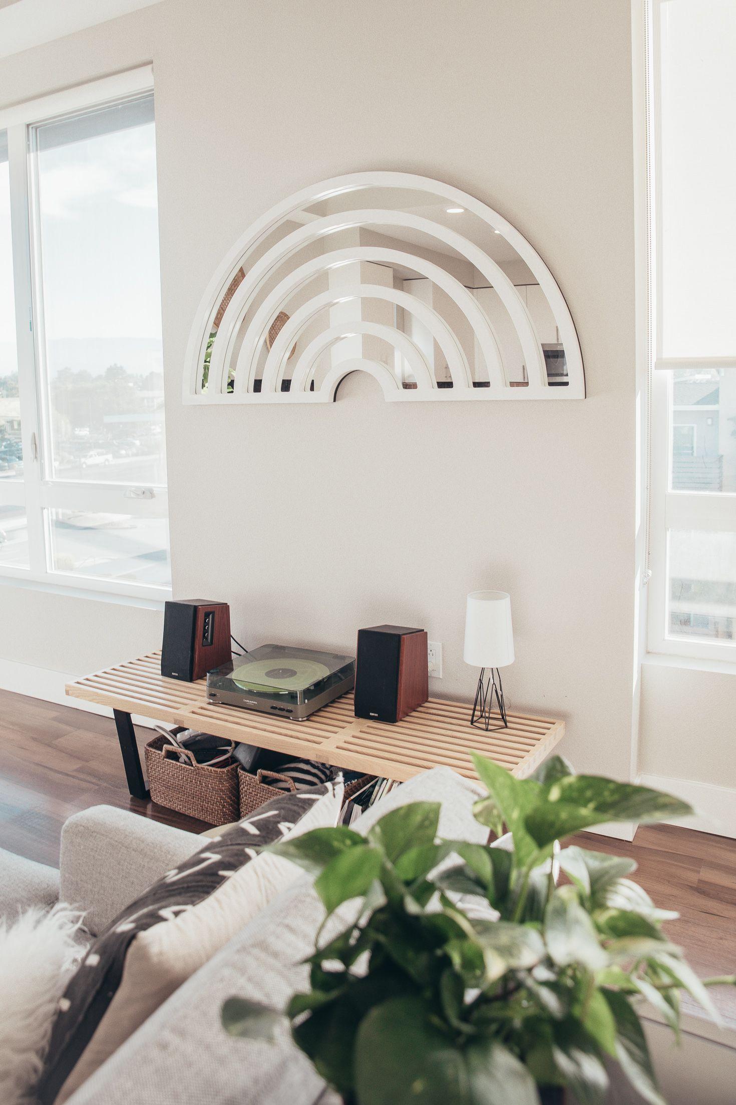 Living Room Home Decor Ideas Miss Louie Apartment Tour Bright Modern Boho