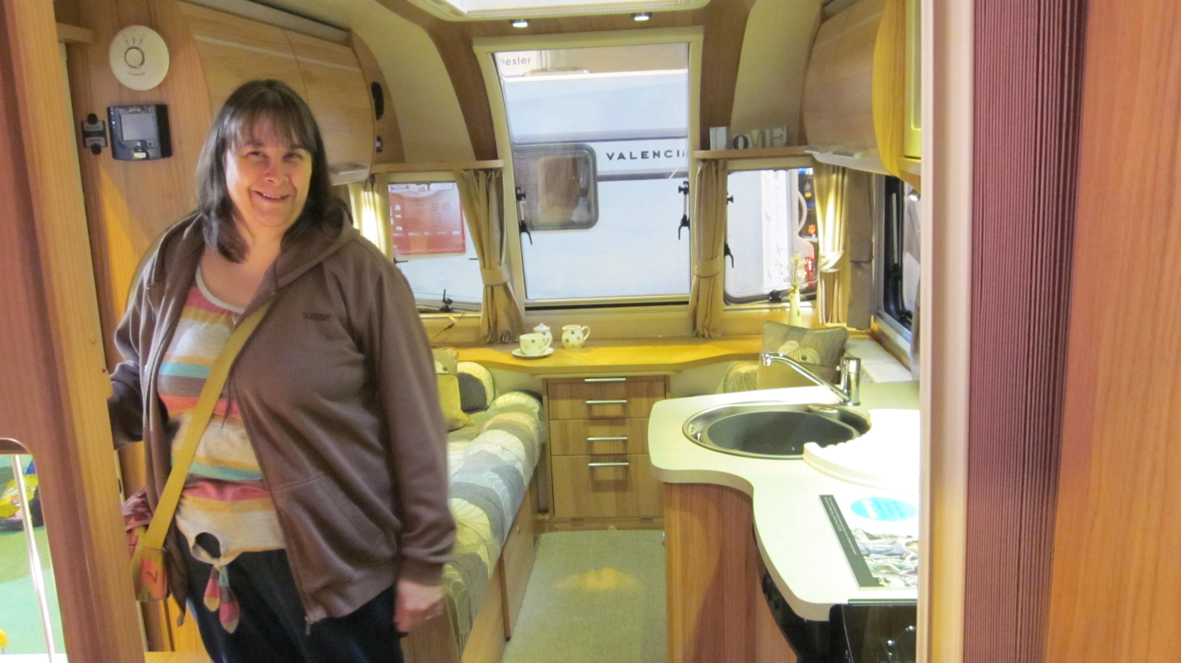 Bailey Pegasus GT65 Verona Looking Down To Front Of Caravan From Fixed Bed On