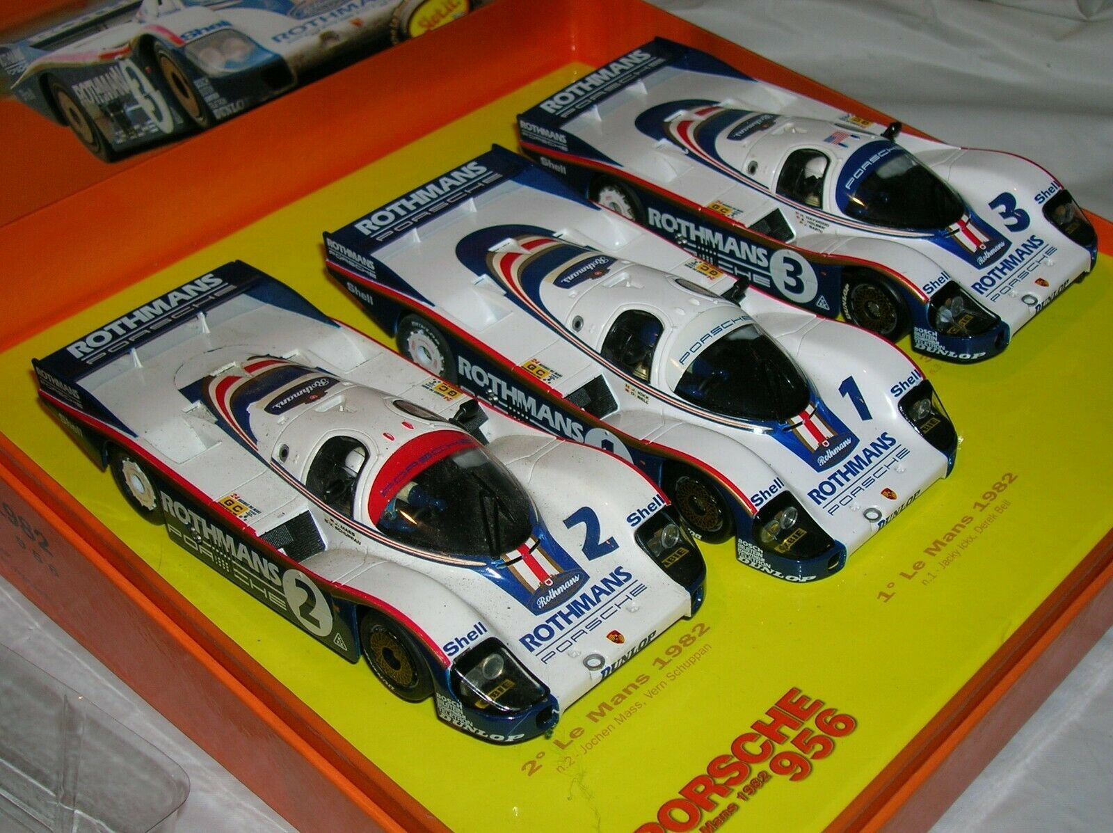 Le Mans '82 Porsche 1st 2nd 3rd place cars Rothmans  - appear mint in box $89.95