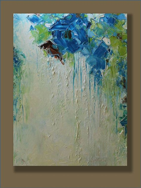 Original abstract painting imaginations modern for Palette knife painting acrylic
