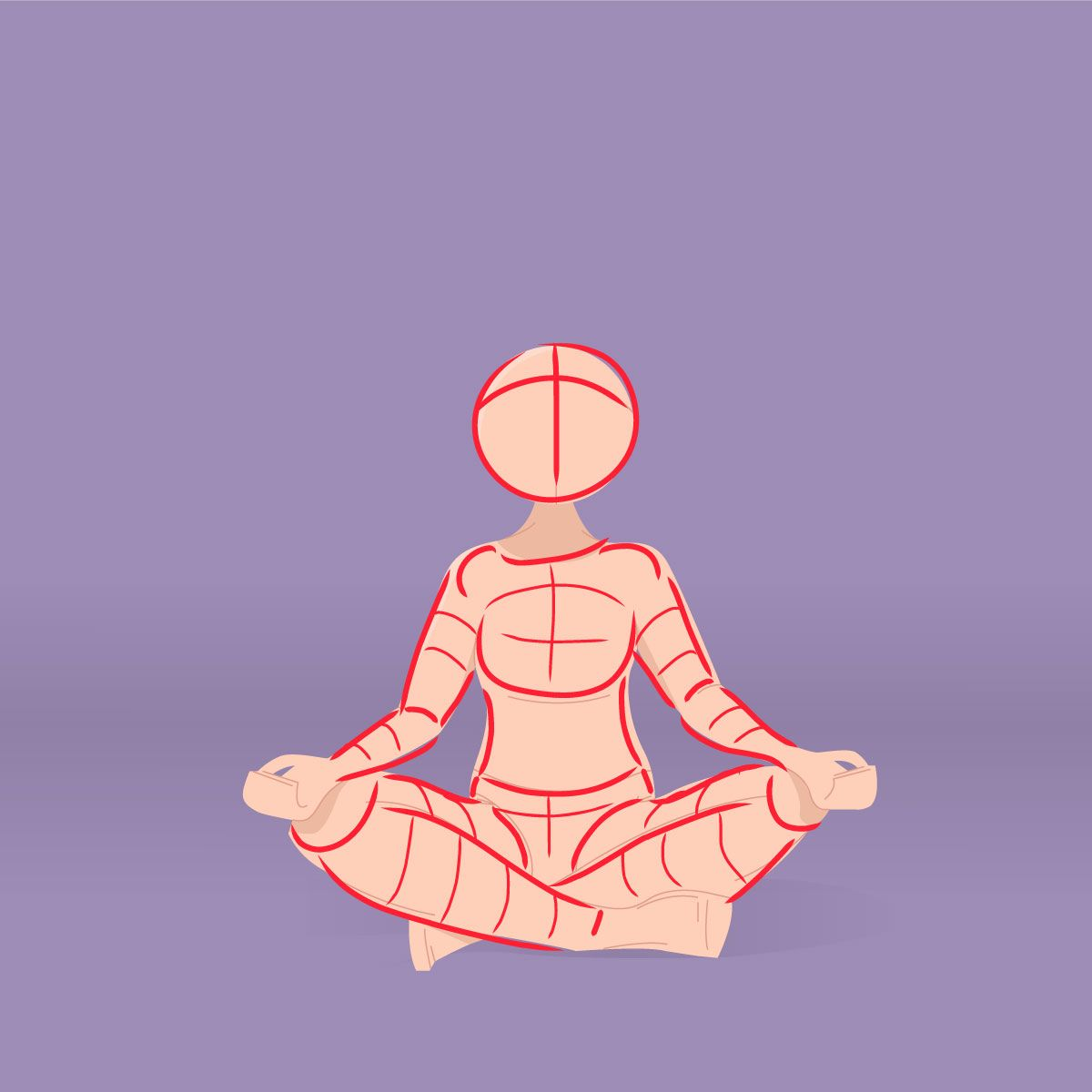 Pose 030 Reference Pose Meditation By Elisabeth Deim Meditation Pose Drawing Art Reference Photos Art Reference Poses