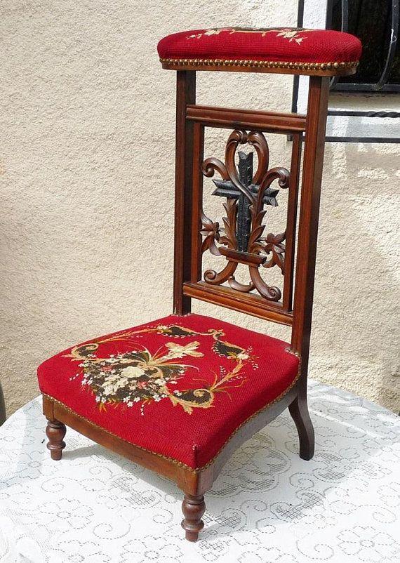 Antique Prayer Chair, French Prie Dieu, Napoleon III Era Circa 1860, Rare  Original Hand Woven Tapestry, Excellent Antique Condition | Pinterest |  Originals - Antique Prayer Chair, French Prie Dieu, Napoleon III Era Circa 1860