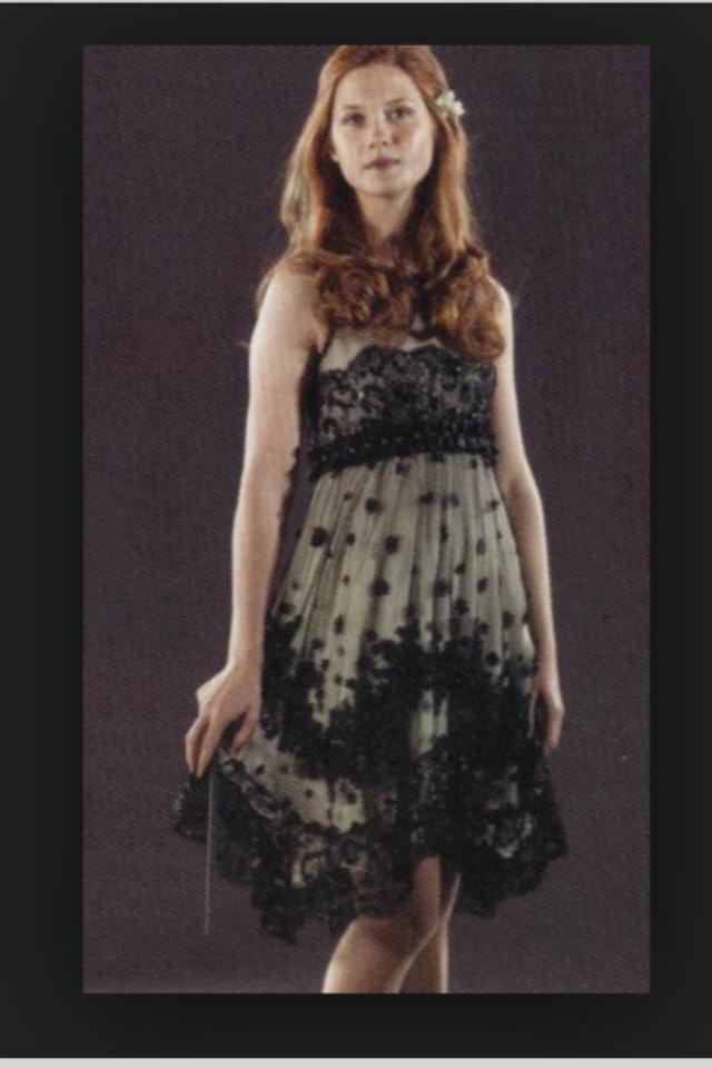 Ginny Weasley At Bill Weasleys And Fleur Delacours Married Harry Potter Dress Ginny Weasley Harry Potter Ginny