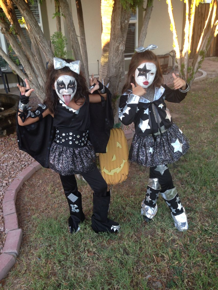 Kids halloween kiss costume Russell Simmons and Paul