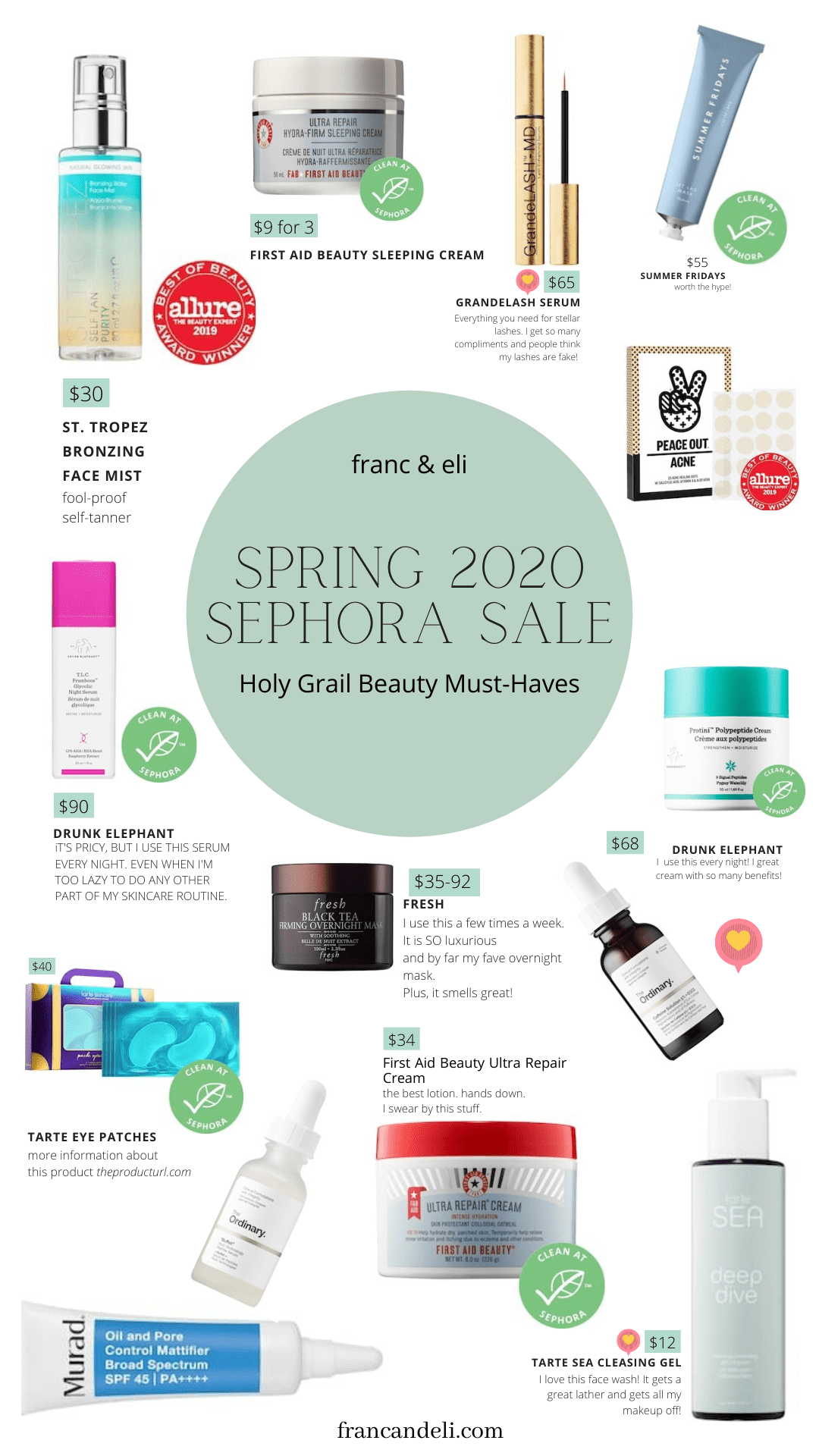 Spring 2020 Sephora Sale Holy Grail Beauty Picks Franc Eli In 2020 Sephora Sale Sephora Sephora Picks