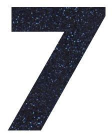 Number 7 Iron-On Decal for Kids