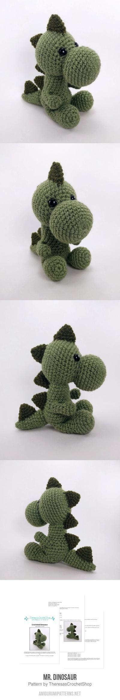 Mr. Dinosaur Amigurumi Pattern | amigurumi | Pinterest | Tejido ...